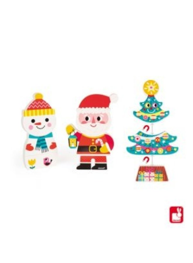 Janod | funny magnets | kerst