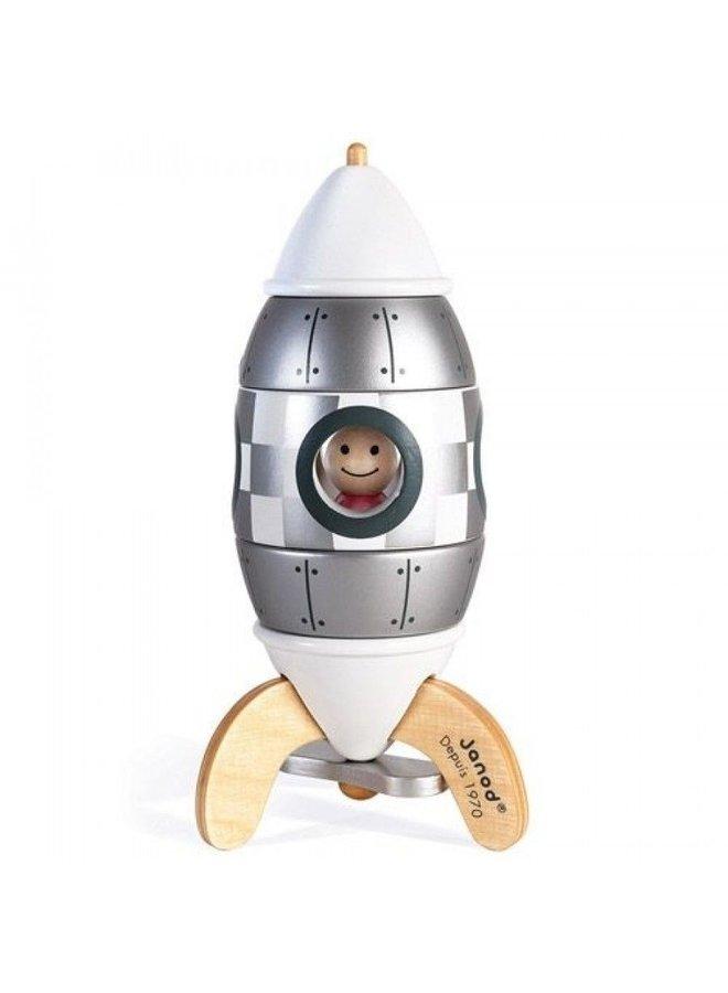 Janod | magneetset | raket zilver