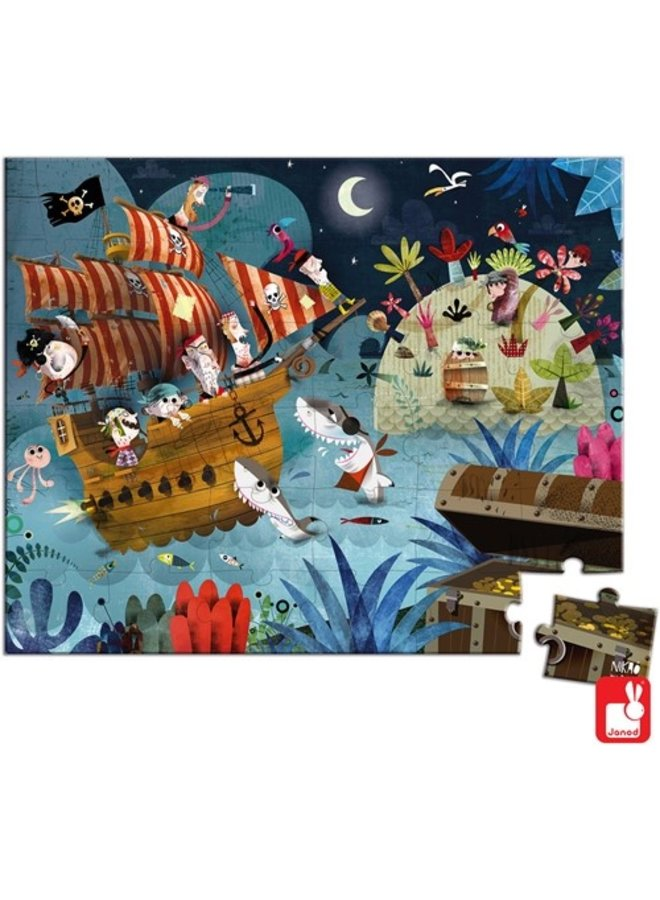 Janod | puzzel | piraten
