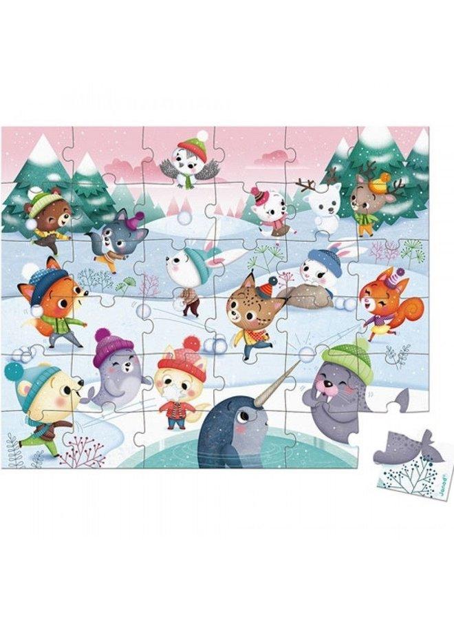 Janod   puzzel   sneeuwfeest