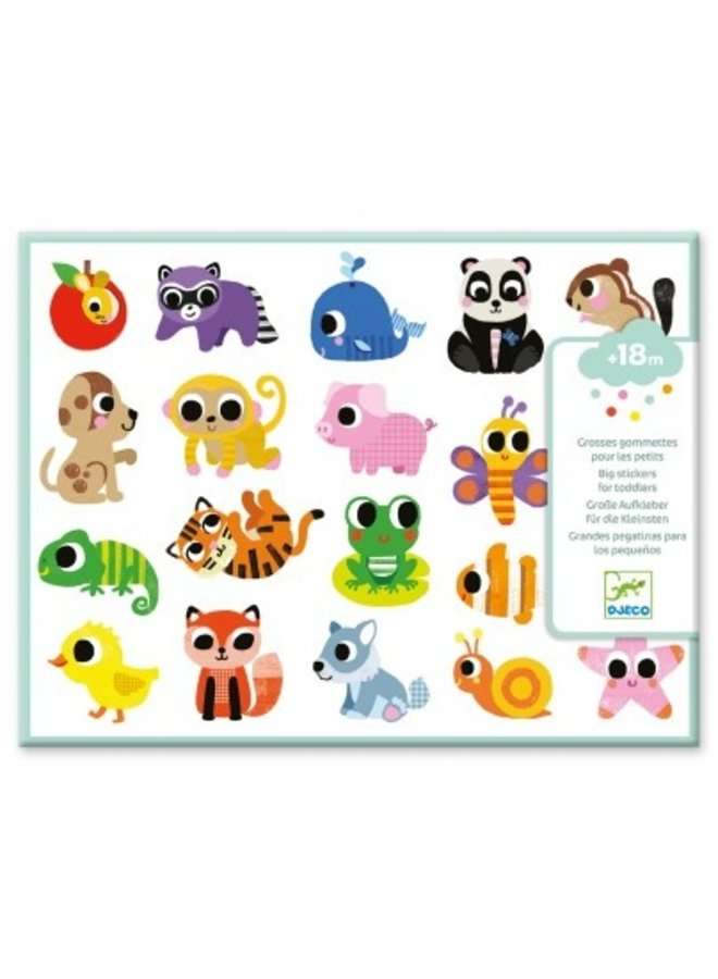 Djeco | grote stickers | babydieren