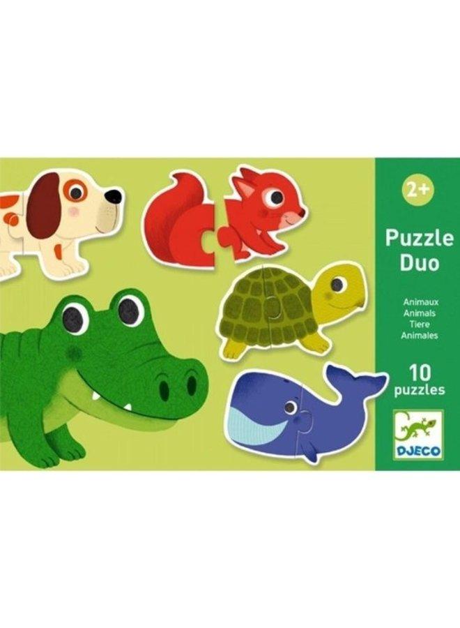 Djeco | duo puzzel | dieren