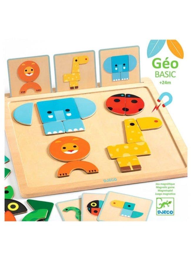 Djeco   houten magneetset   dieren