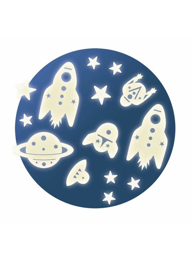 Djeco   glow in the dark stickers   mission space