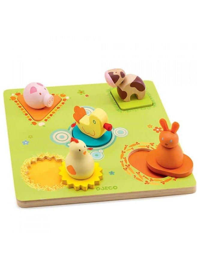 Djeco   3D puzzel   bildi duck and friends