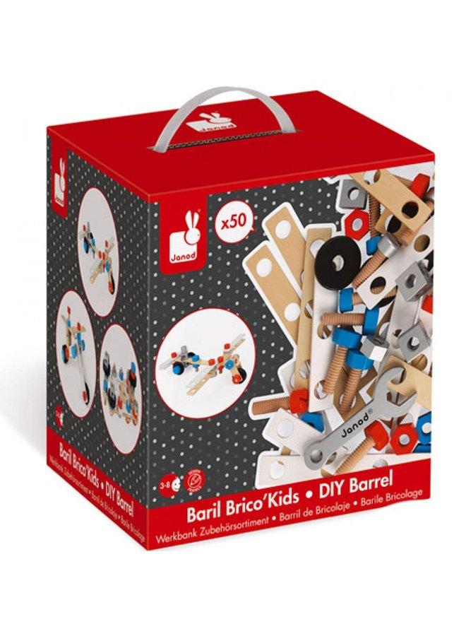 Janod | brico kids | doos 50 onderdelen