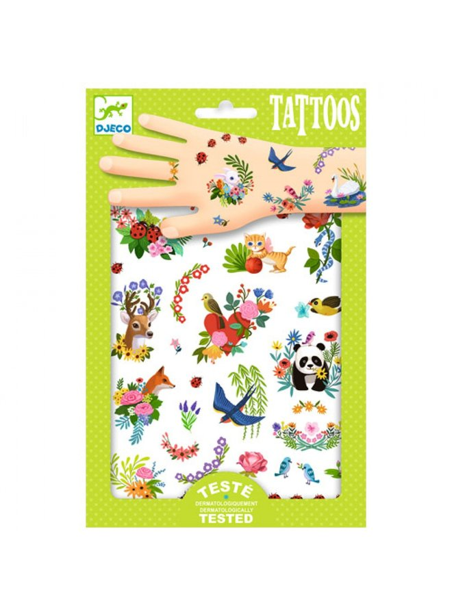 Djeco | tattoos | happy spring