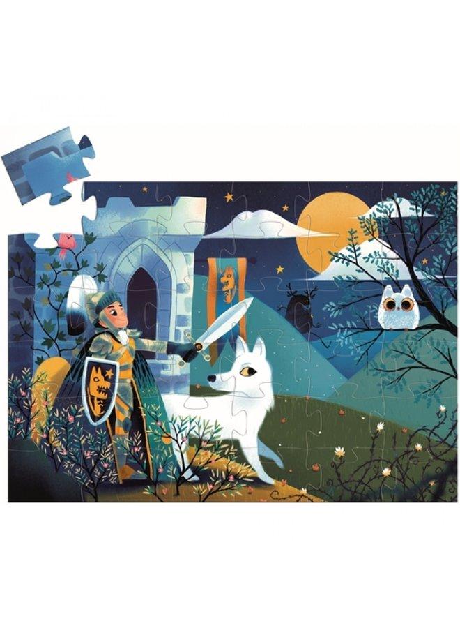 Djeco | puzzel | ridder bij volle maan