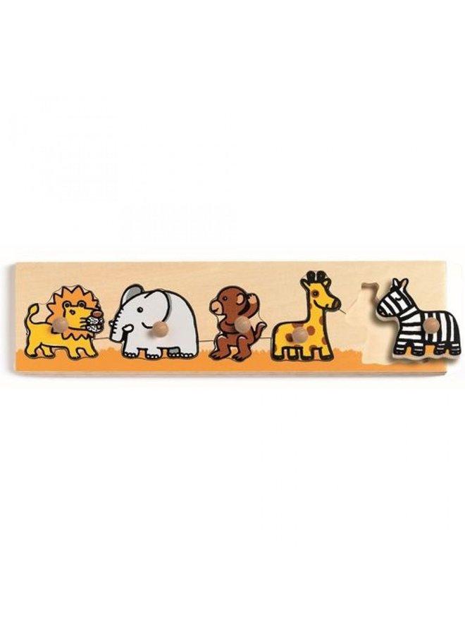 Djeco | houten puzzel | savanne