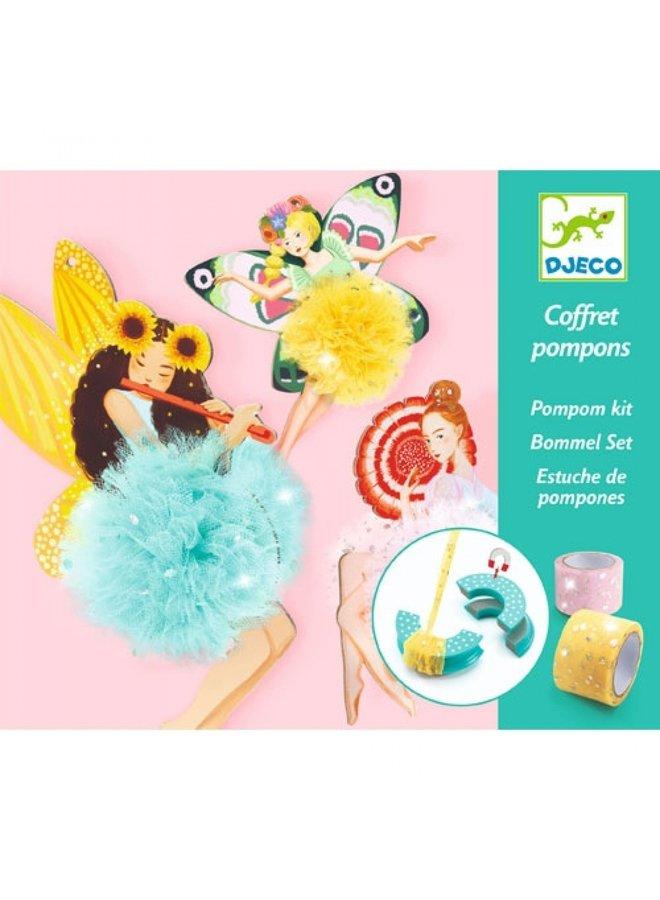 Djeco | knutselpakket | pompons feeen