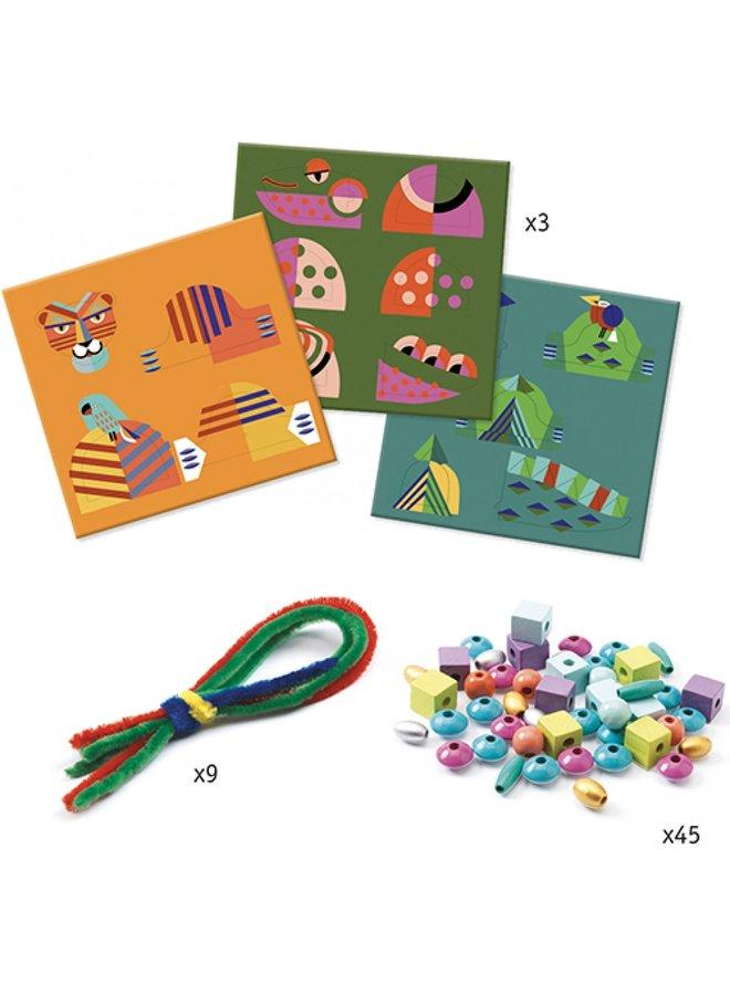 Djeco | knutselpakket | rijgen mijn dieren