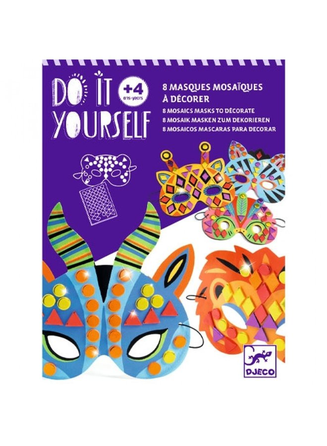 Djeco | knutselpakket | maskers maken jungledieren