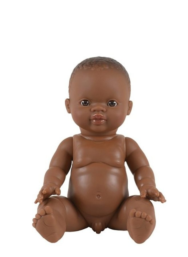 Paola Reina | doll 34 cm | petit garcon d'afrique aux yeux caramel
