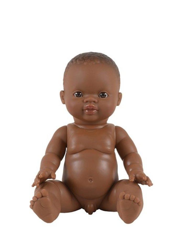 Paola Reina   pop 34 cm   zwarte jongen