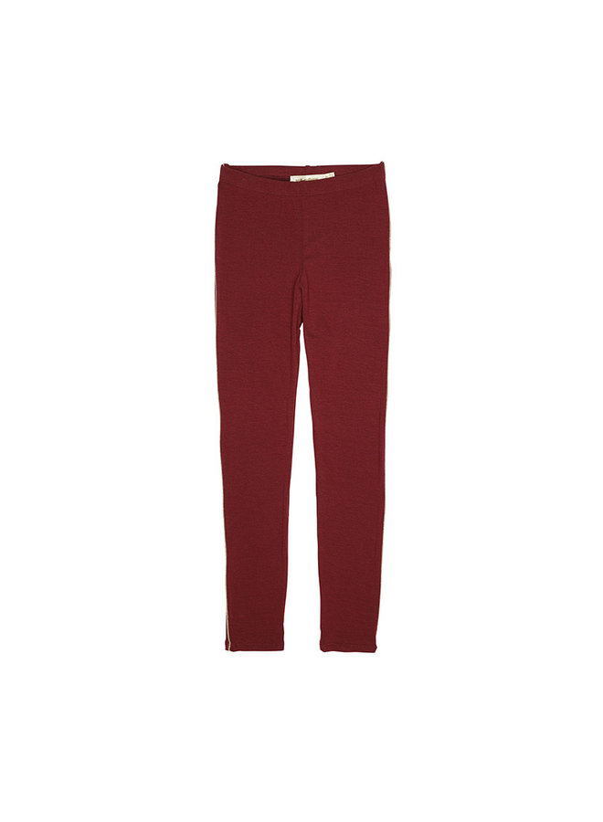 Soft Gallery | paula leggings | oxblood red