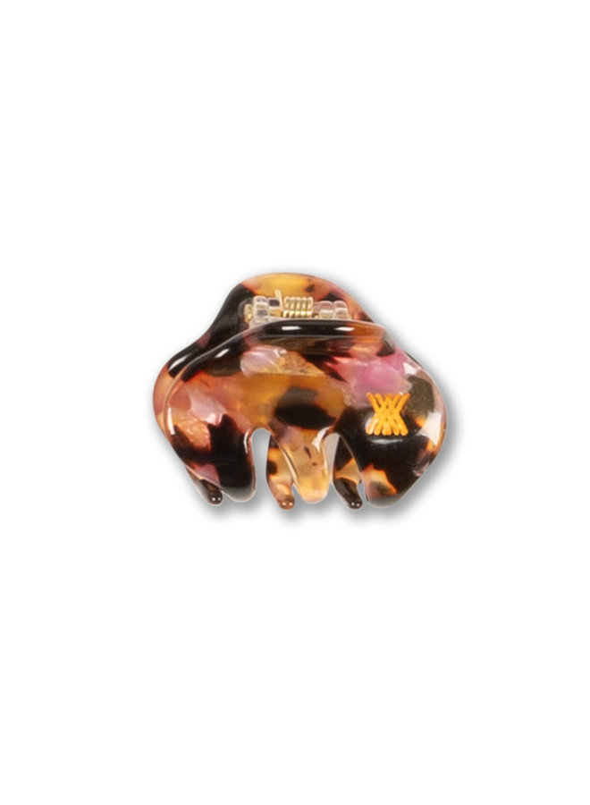 Repose AMS | hair clamp small | brown marble pink