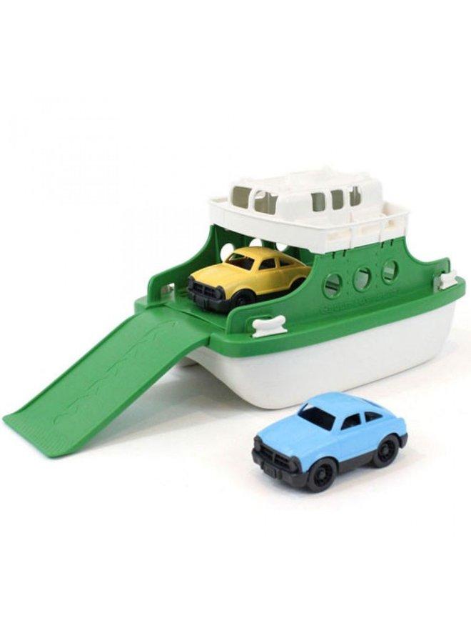 Green Toys | veerboot | groen/wit