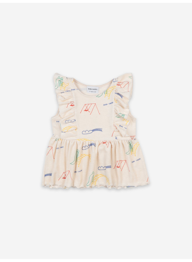 Bobo Choses | playground all over ruffle top