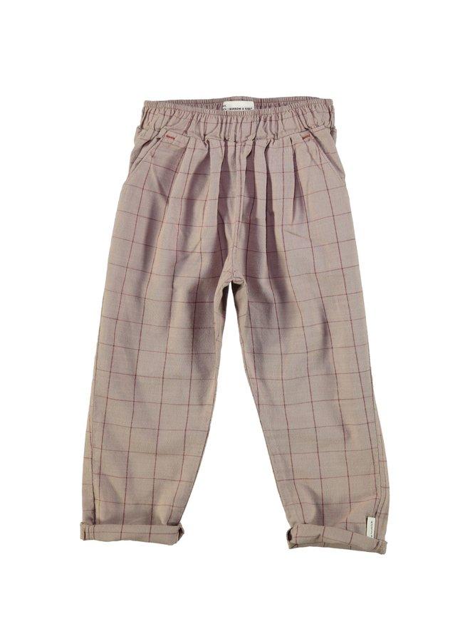 Piupiuchick | unisex trousers | tape & garnet checkered
