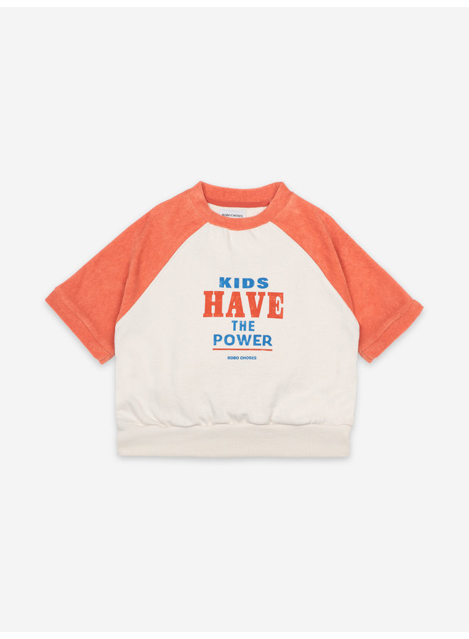 Bobo Choses | kids have the power short sleeve sweatshirt