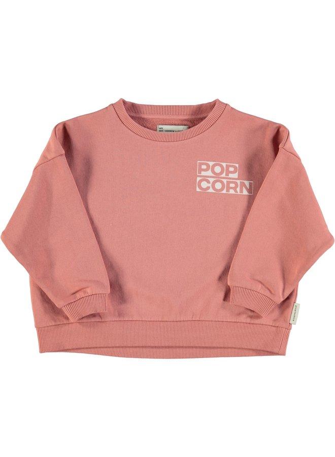 "Piupiuchick   unisex sweatshirt   pink w/ ""popcorn"" print"