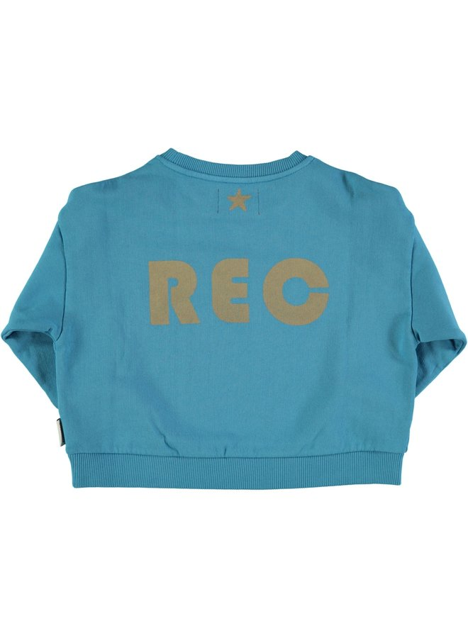 "Piupiuchick | unisex sweatshirt | deep blue w/ ""rec""print"