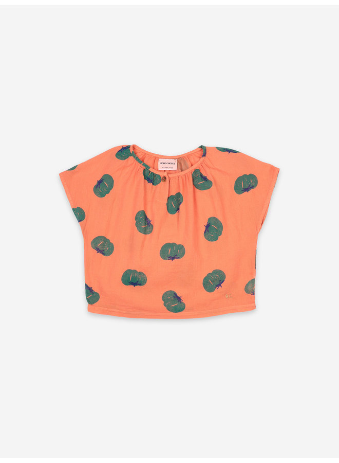 Bobo Choses | tomatoes all over woven top