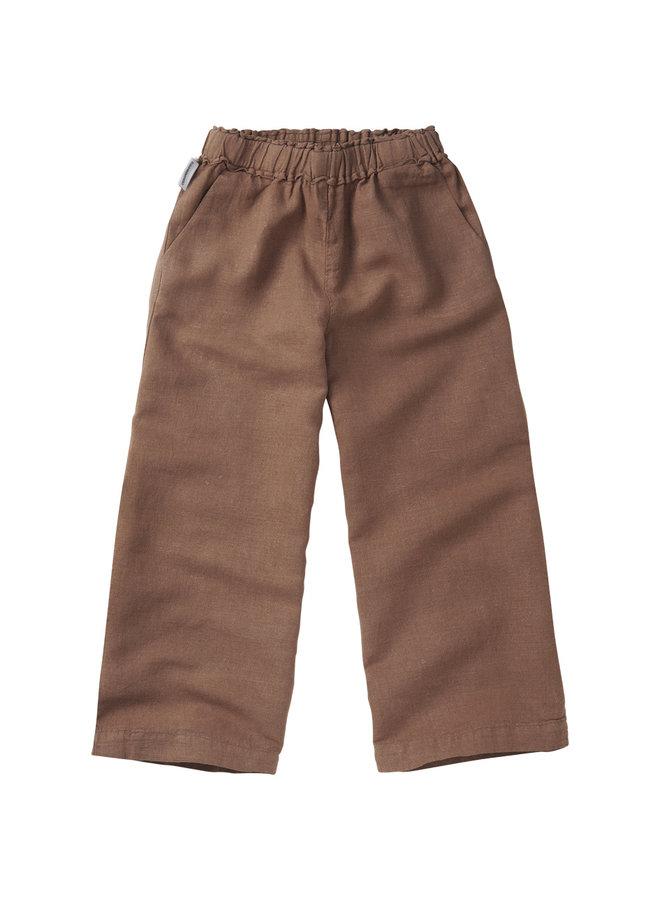 Mingo | linen wide pants | warm earth