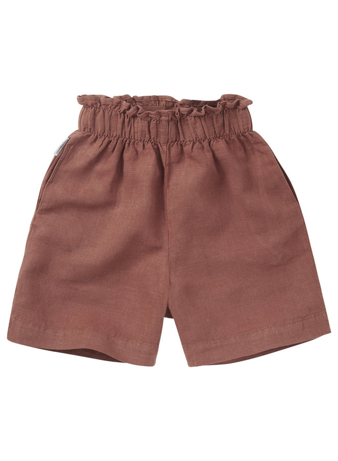 Mingo | linen paper bag short  | sienna rose