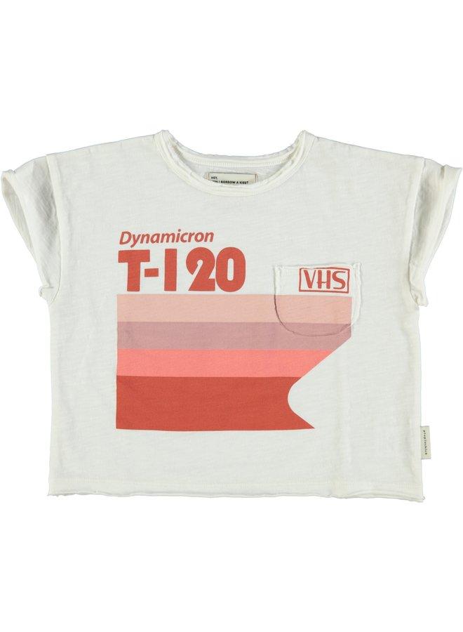 Piupiuchick | t-shirt | off-white w/ multicolor print
