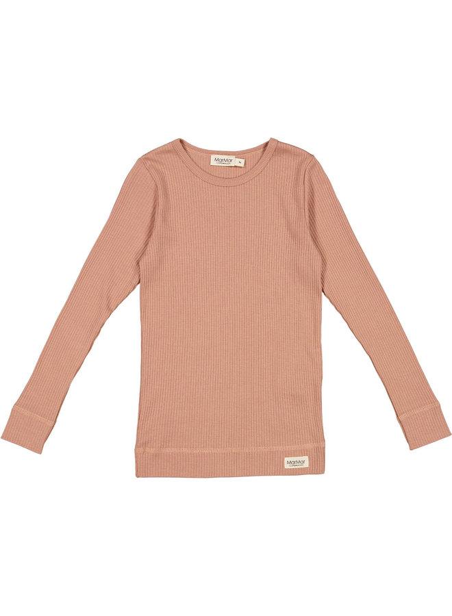 MarMar   plain tee ls   t-shirt   rose brown