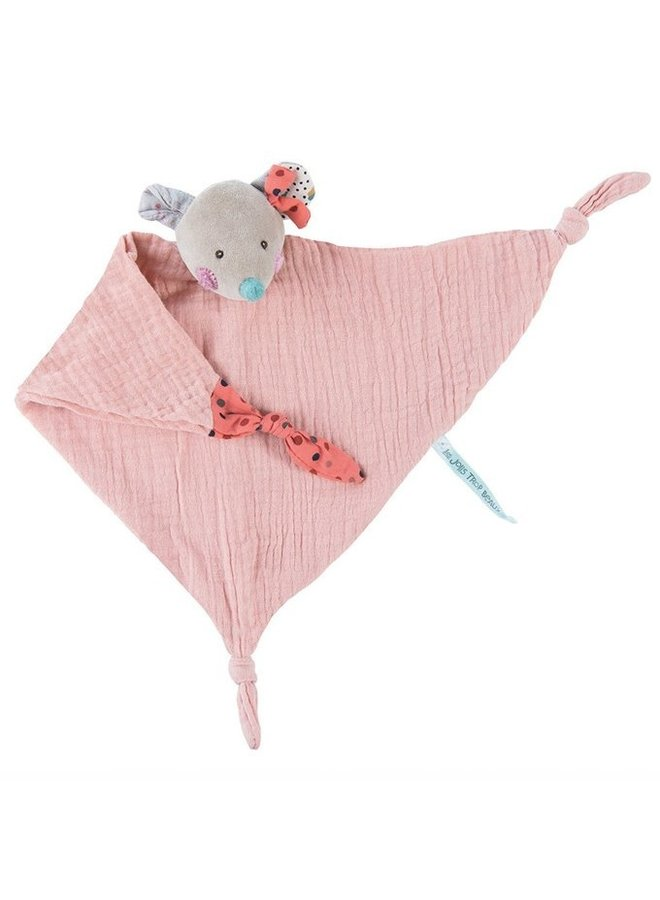 Moulin Roty   mousseline knuffeldoek muis