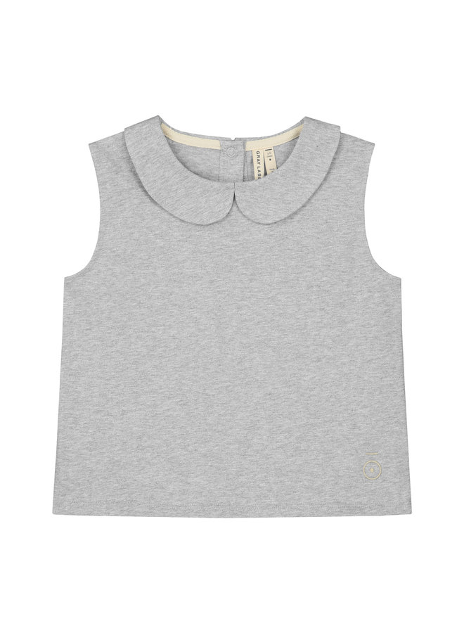 Gray Label   collar tank top   grey melange