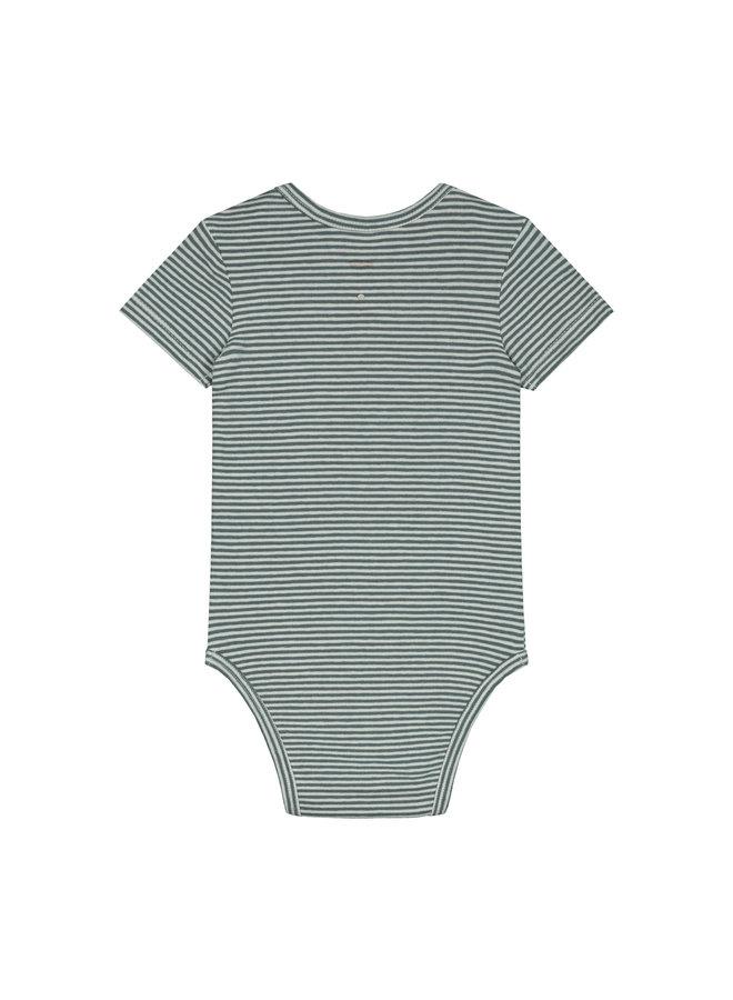 Gray Label | baby onesie | blue grey/cream