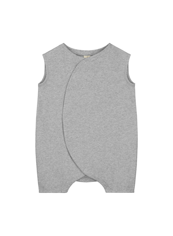 Gray Label | baby grow with snaps | grey melange