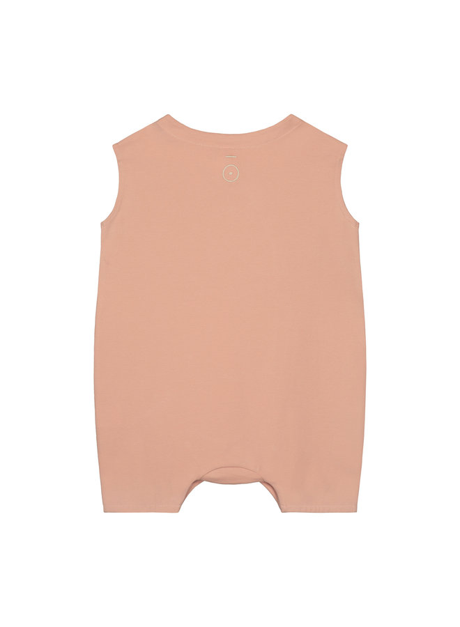 Gray Label | baby grow with snaps | rustic clay