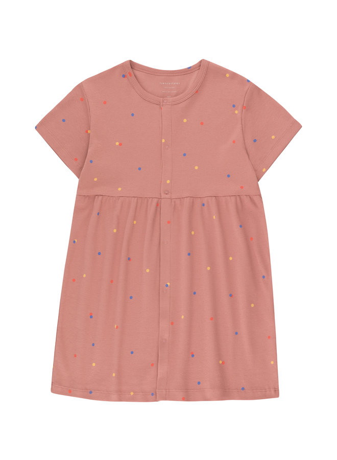 Tinycottons | ice cream dots dress | mauve