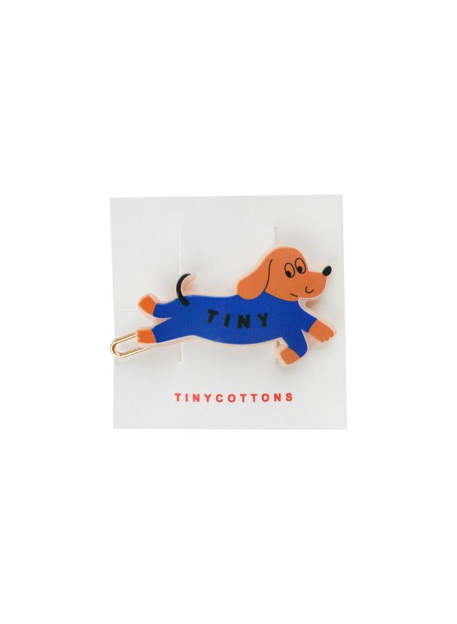 Tinycottons | tiny dog hair clip | iris blue