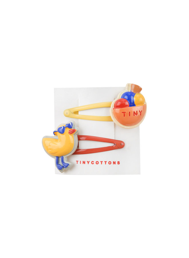 Tinycottons   chiringuito hair clips set   multicolor