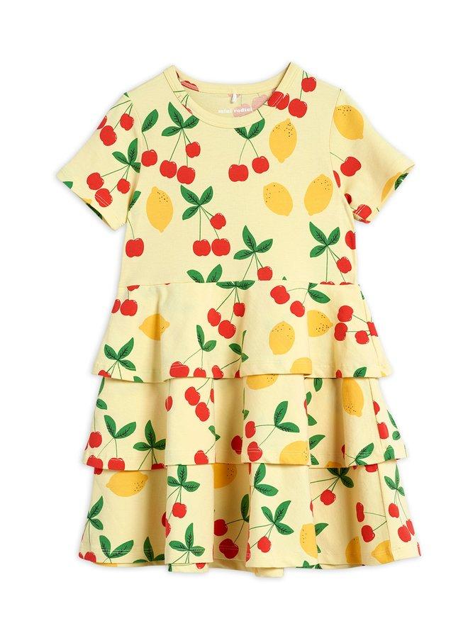 Mini Rodini | cherry lemonade aop ss dress