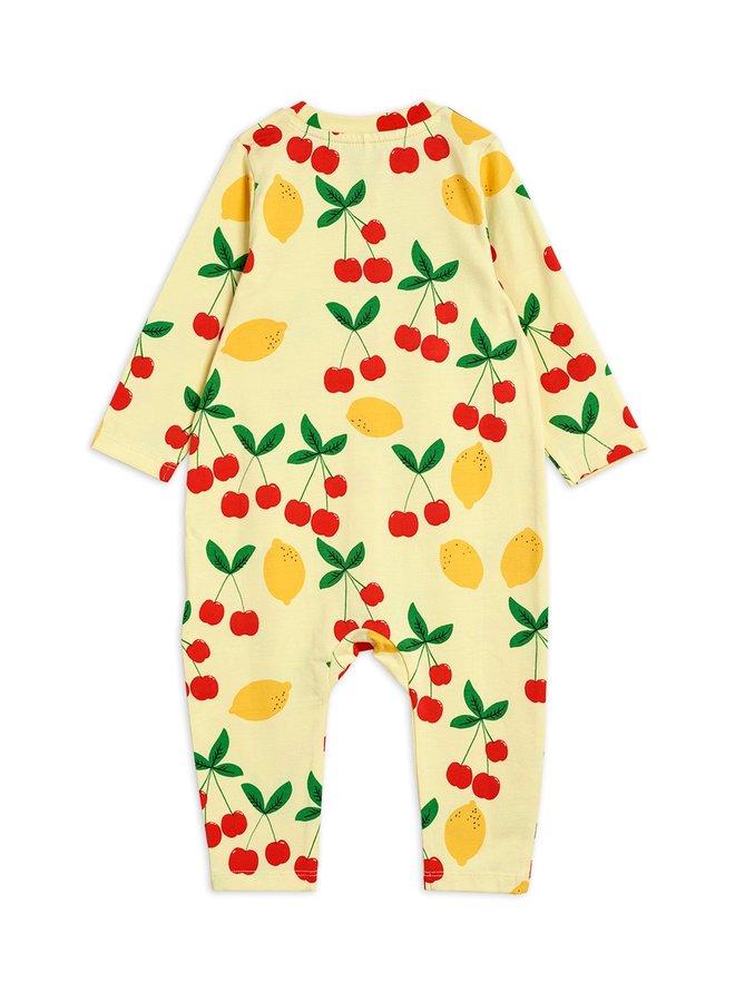 Mini Rodini   cherry lemonade aop jumpsuit