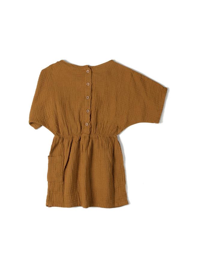 Nixnut   flow dress   caramel