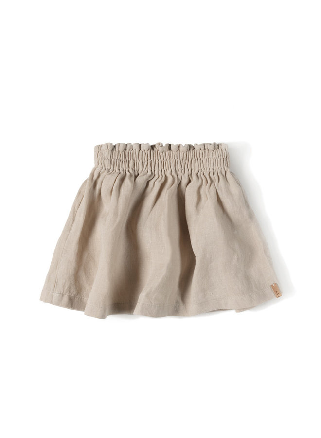 Nixnut | lin skirt | sand