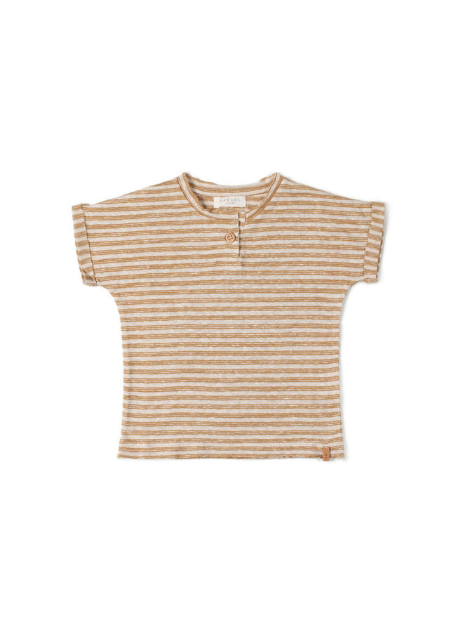 Nixnut | be t-shirt | caramel stripe