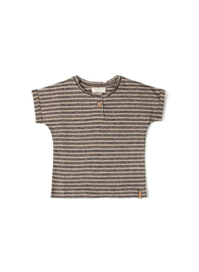 Nixnut | be t-shirt | night stripe