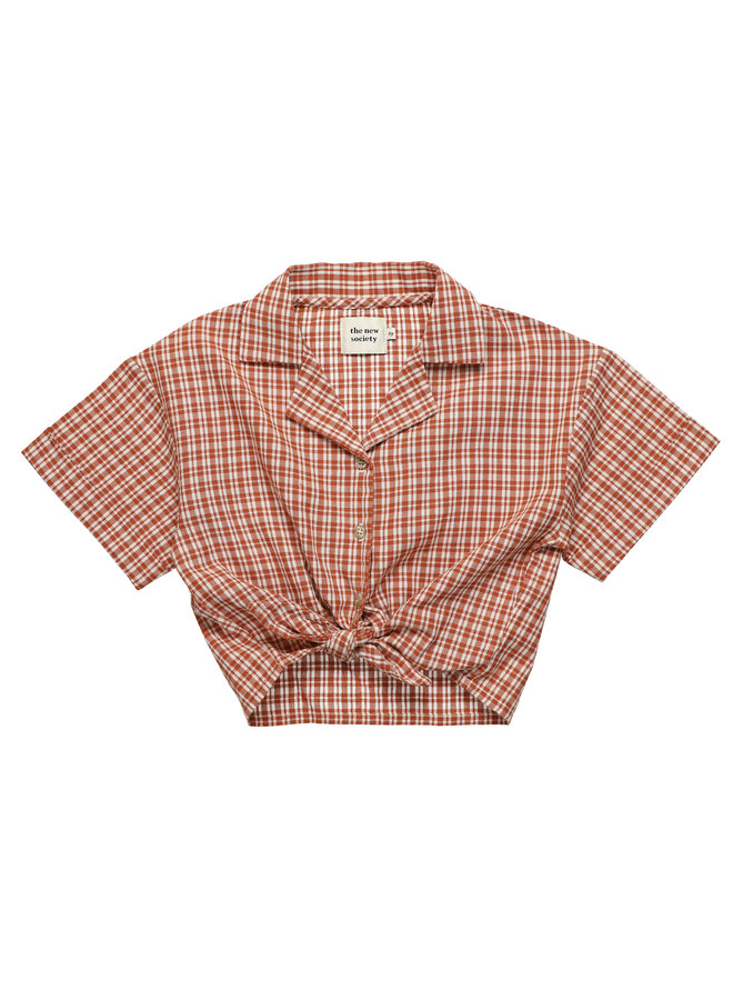 The New Society   arlette shirt   caramel check
