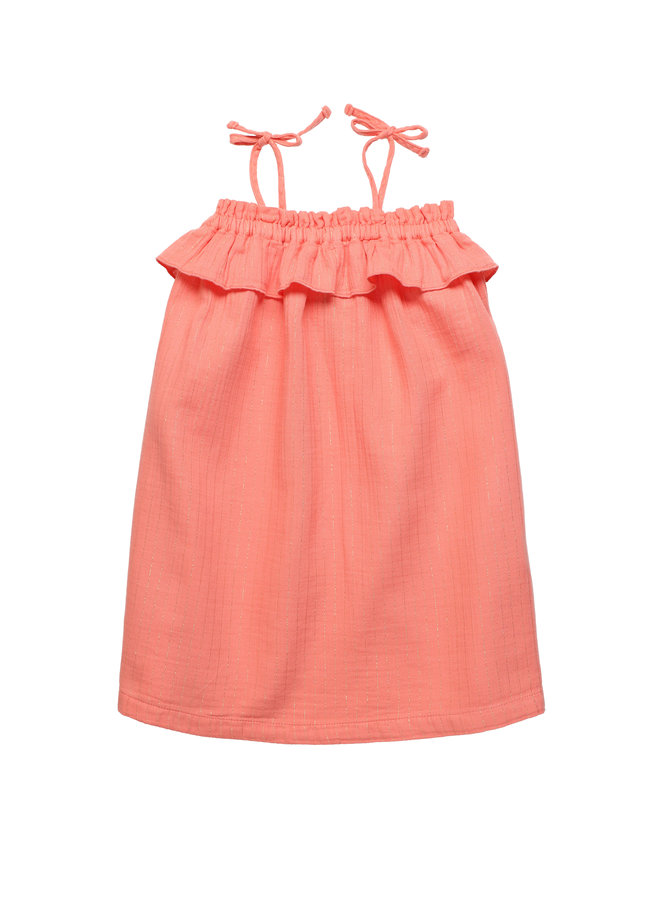 The New Society | claire dress | coral