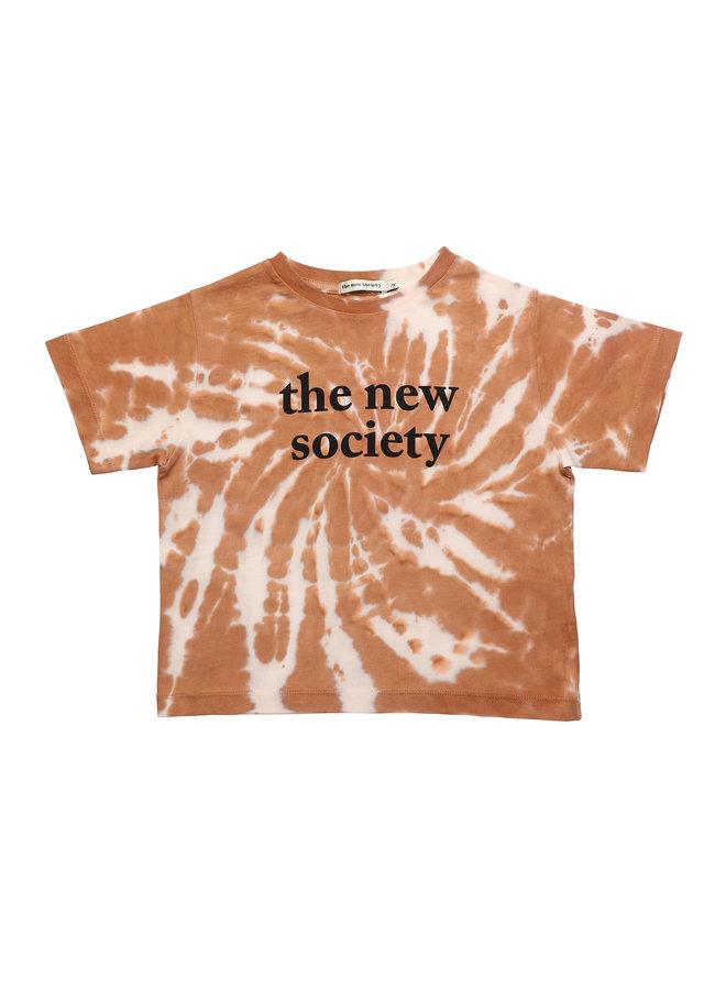 The New Society   the new society tee   caramel
