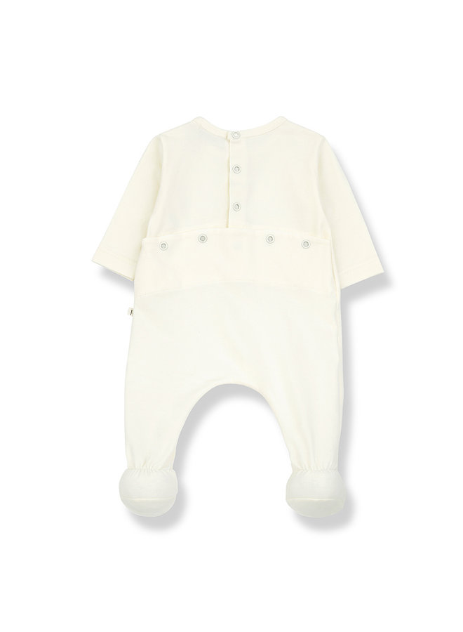 1+ in the family | didier jumpsuit w/feet | ecru