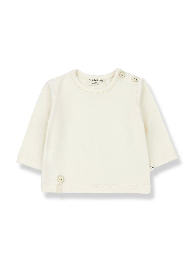 1+ in the family | noelle long sleeve t-shirt | ecru